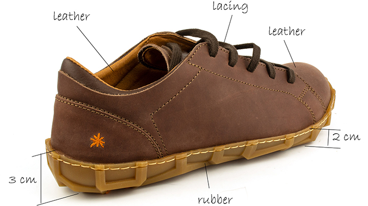 Men's 0768 Art Brown Leather Casual Shoe