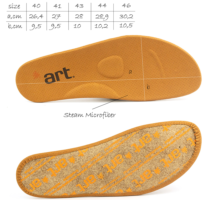 Anatomical removable insole from men's  Melbourne Art Lace Up Low Shoes