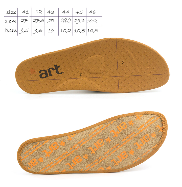 0768 Art Melbourne Kaki men's Lace-Up, removable insole