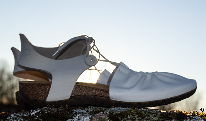 Loints of Holland Florida 31089 White Leather Sandals