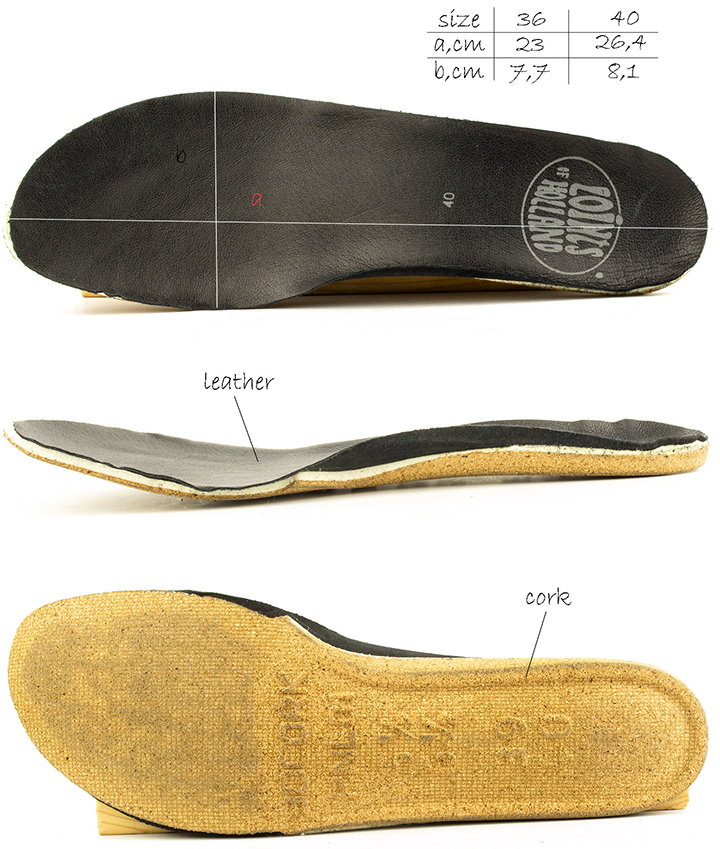 Removable insole of Loints of Holland Fusion 37454 flat shoes.