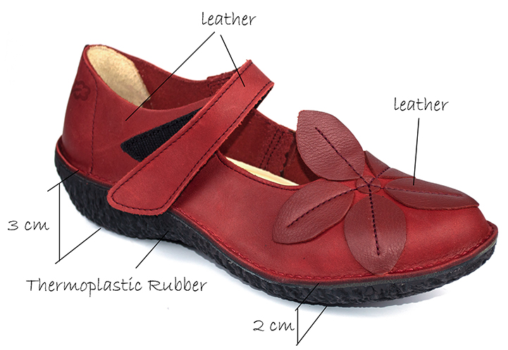 Fusion 37455 Loints of Holland red Mary Jane shoes