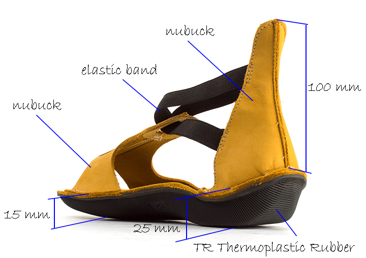 Loints of Holland  Yellow Nubuck Flat Sandal
