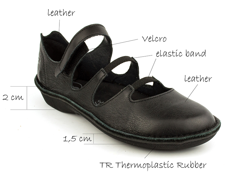 Women's Turbo Black Flats