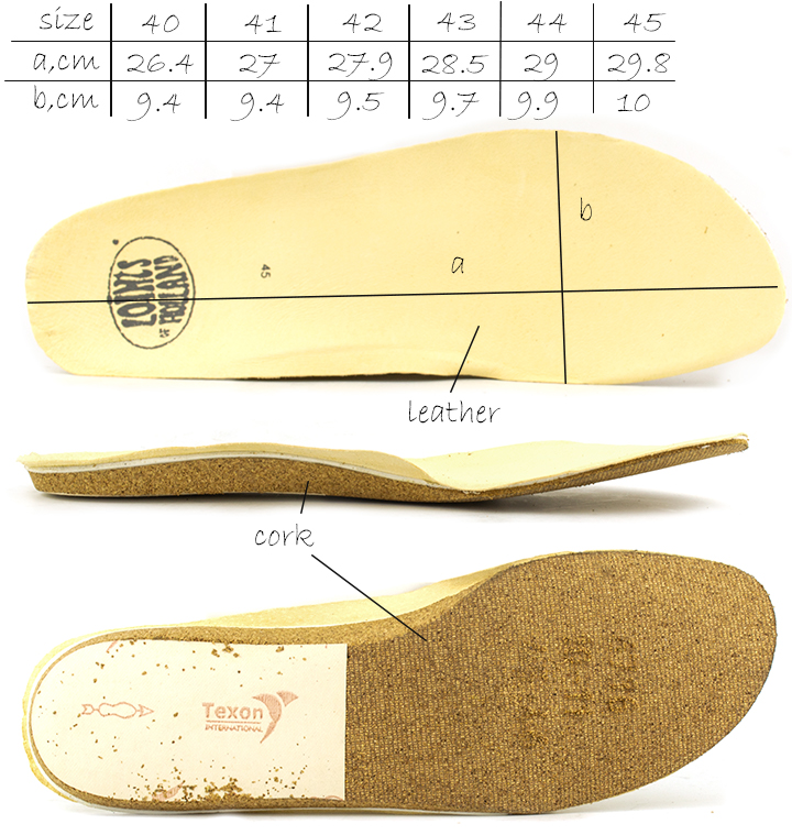 The parameters of the removable insole of  men's casual  shoes