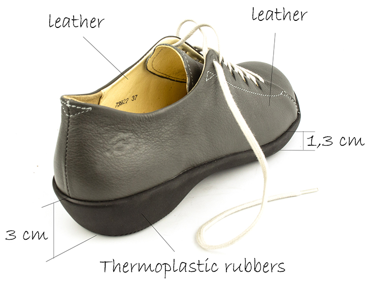 Women's 73922 Active gray lace-up flat shoes from Loints of Holland