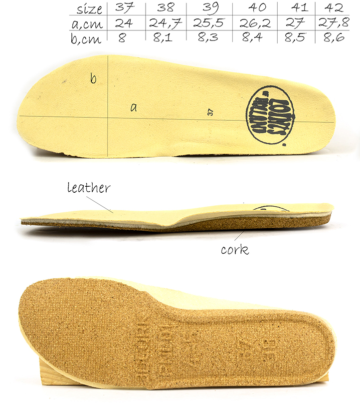 Removable Insole of the Active Loints of Holland shoes