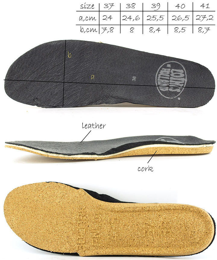 Removable Insole of the Active 73931 Loints of Holland shoes