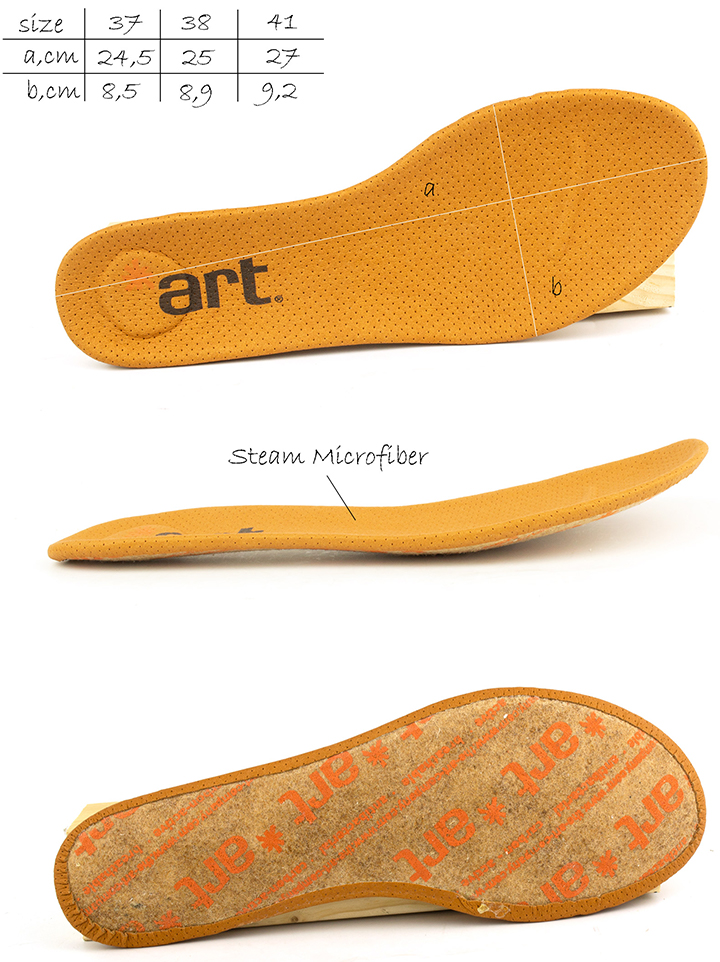 Removable insole of  women's Art 926 Bergen flat shoes