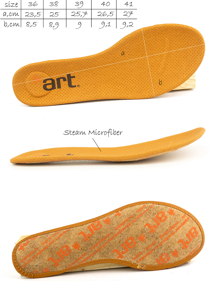 Removable insole of  women's Art 926 Bergen Ballet Flat