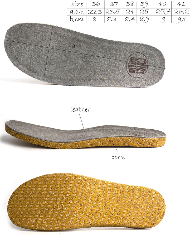 Removable Insole of the Bolero Loints of Holland sandals