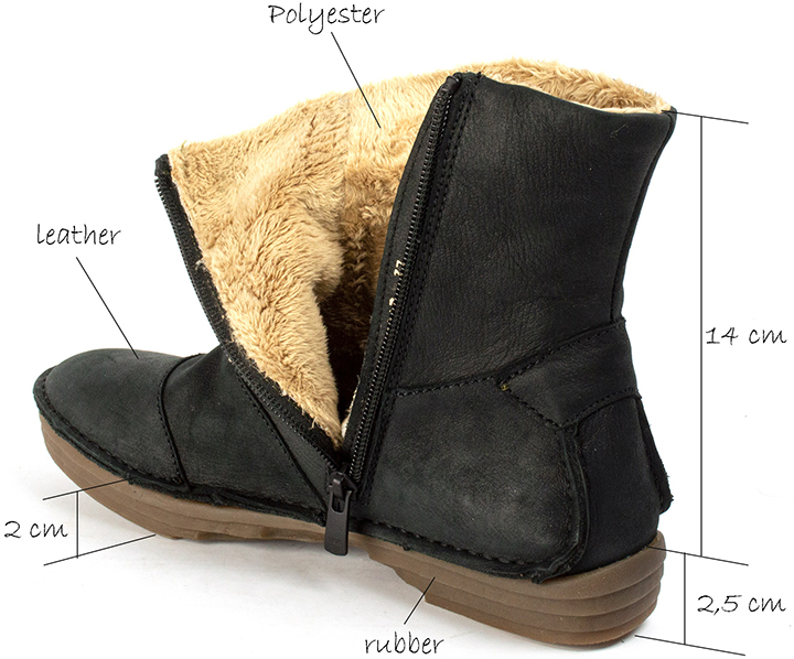 El Naturalista Rice Field Black Leather Boots