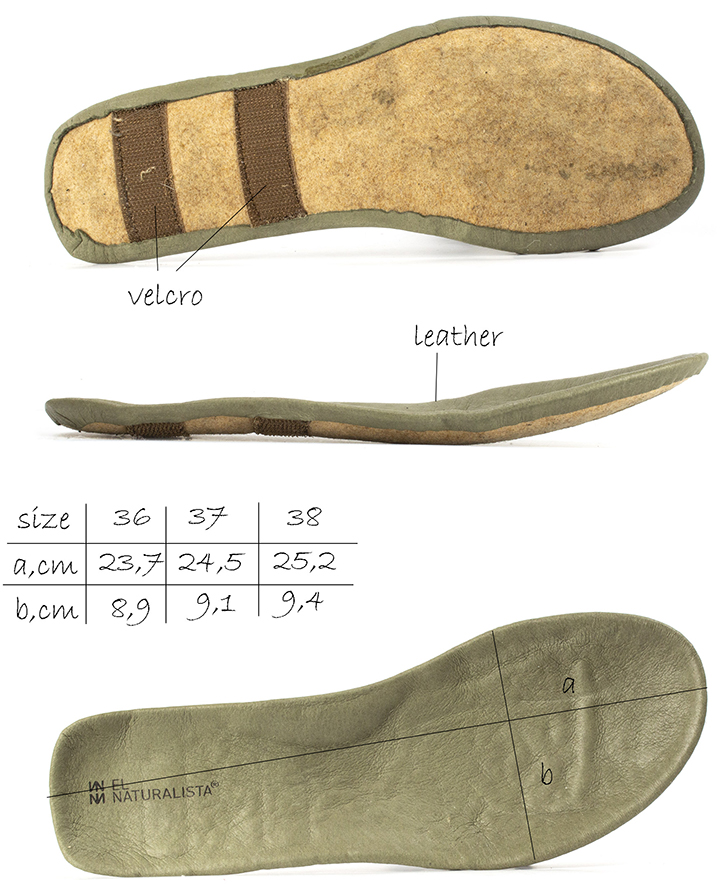 Removable insole of women's ankle boots (El Naturalista Rice Field)