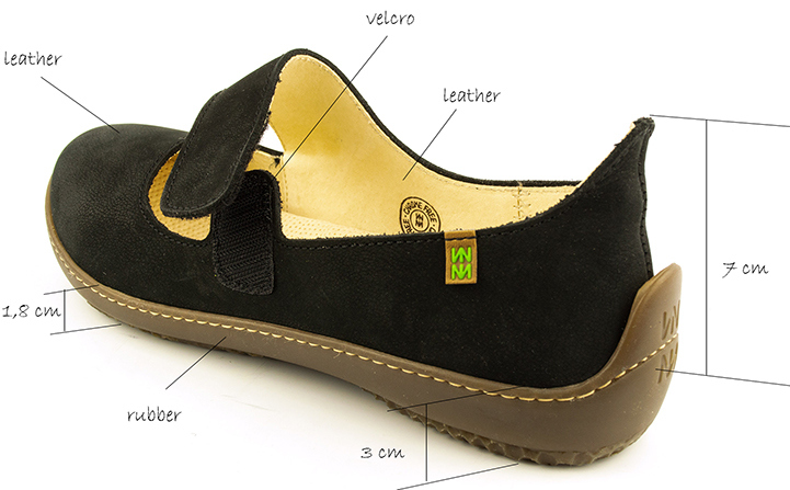 El Naturalista nd85 Bee black leather ballet flats.