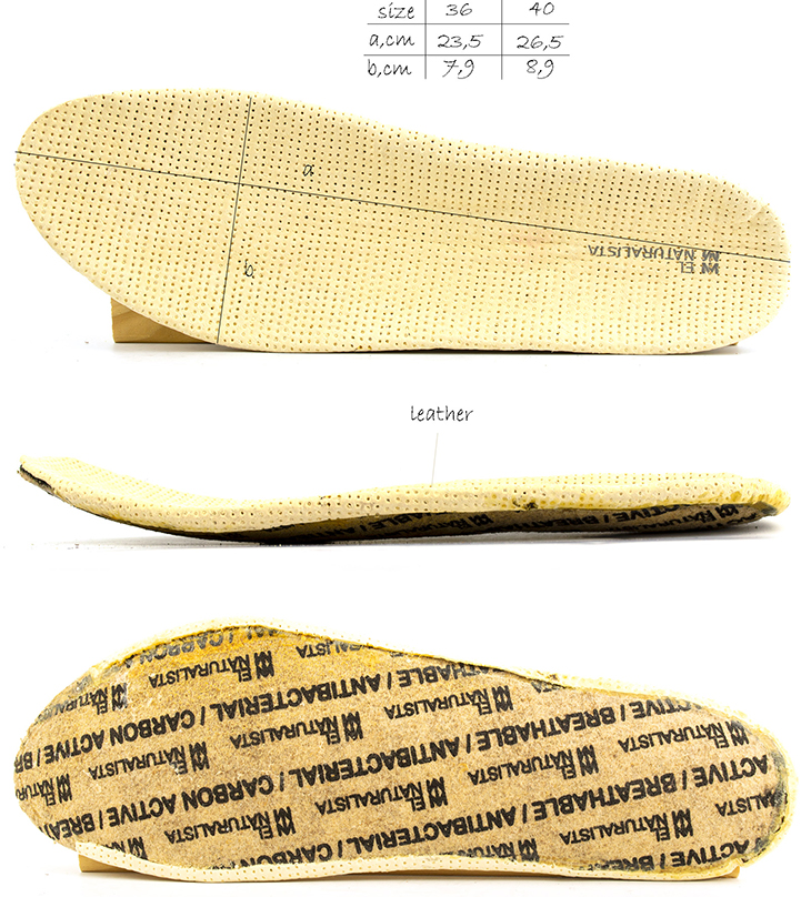 Removable insole of El Naturalista nd85 Bee flat shoes