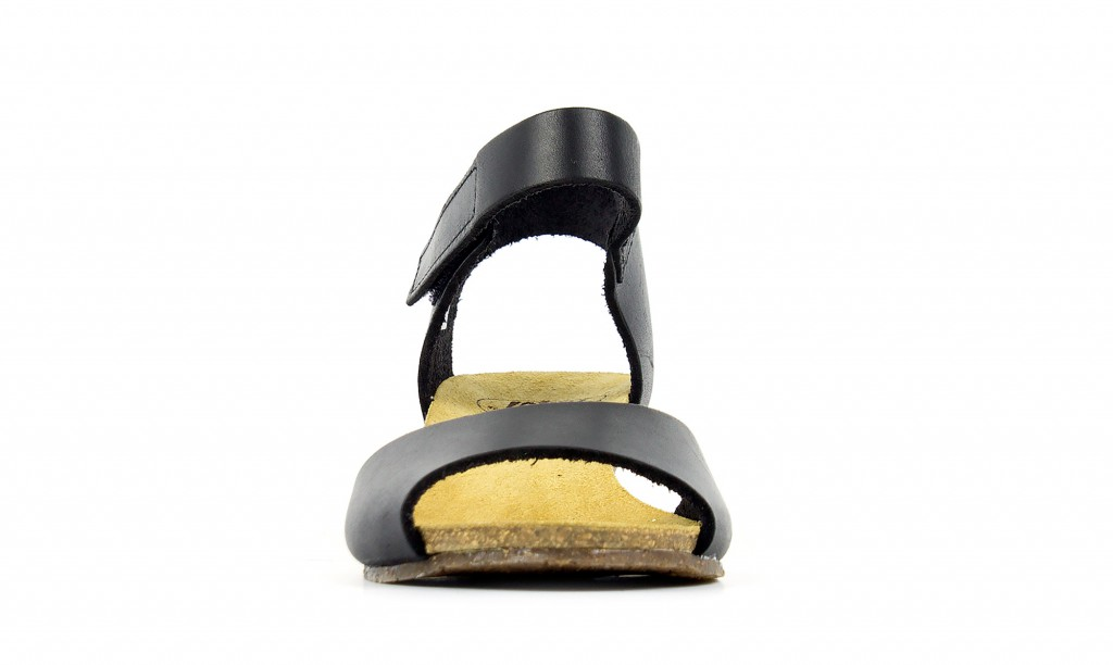 Loints of Holland 16431 Lola black - women's wedge sandals - Spash.info