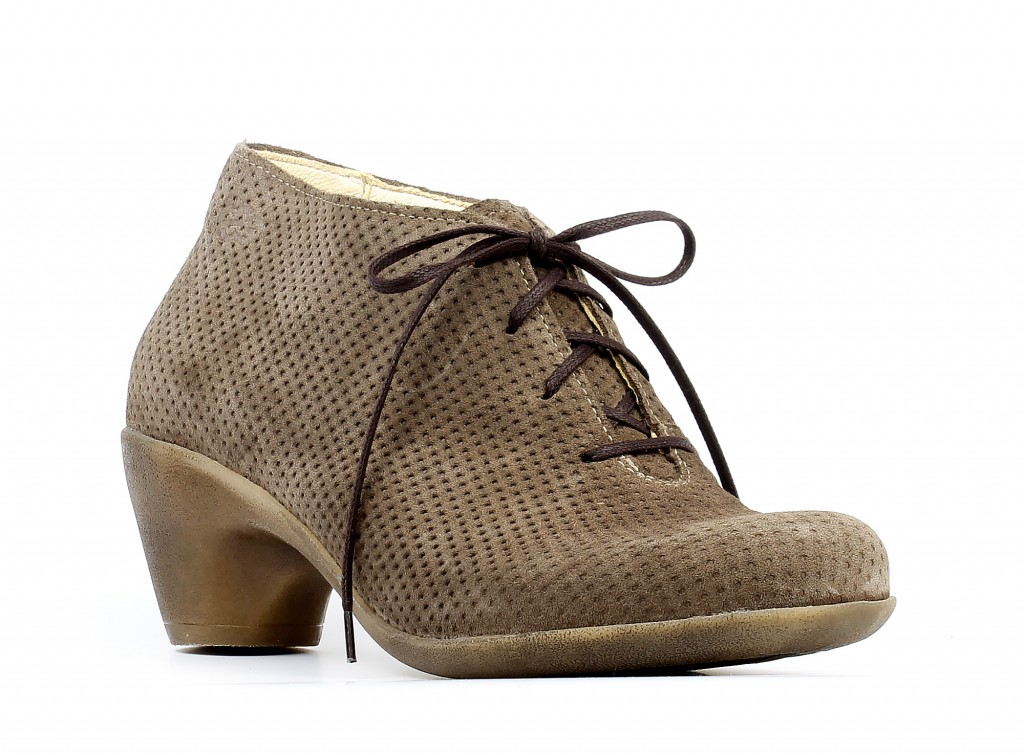 Loints of Holland 70690 Jive taupe - Lace-up Heels - Spash.info