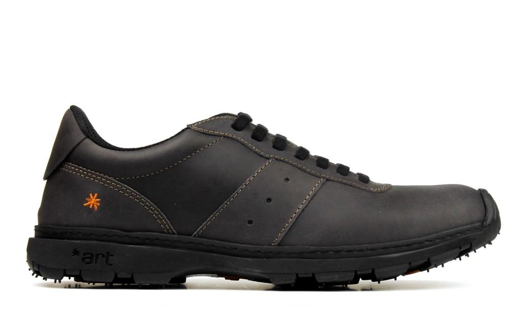 Schwarze Ledersneaker für Herren und Damen 1040 ART Link black