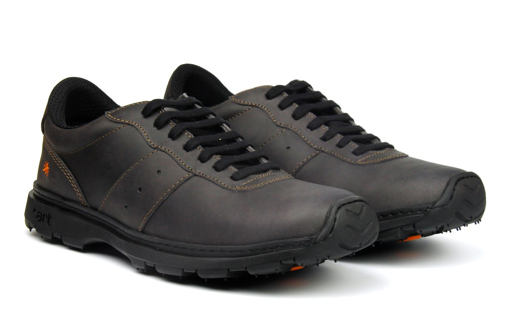 Comfortable black leather sneakers  for men and women 1040 ART Link black