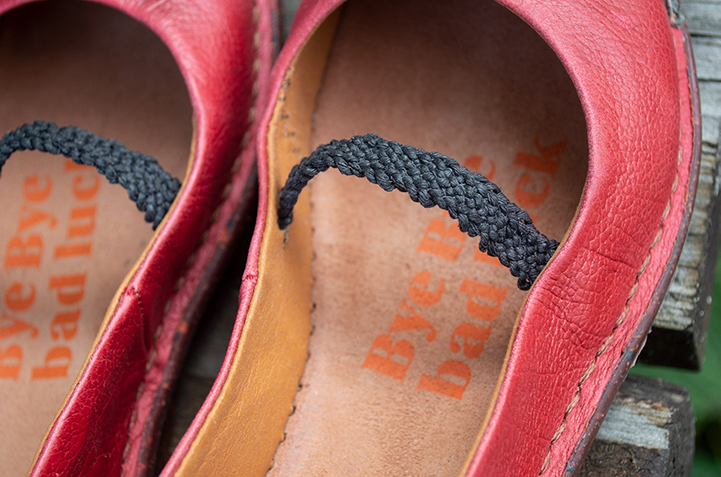 Textile braid in ballet flats by Art