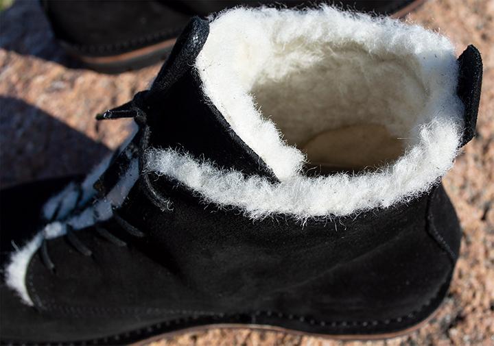 White wool lining