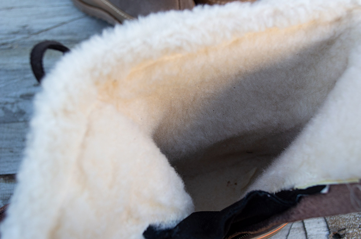 Faux fur lining and insole